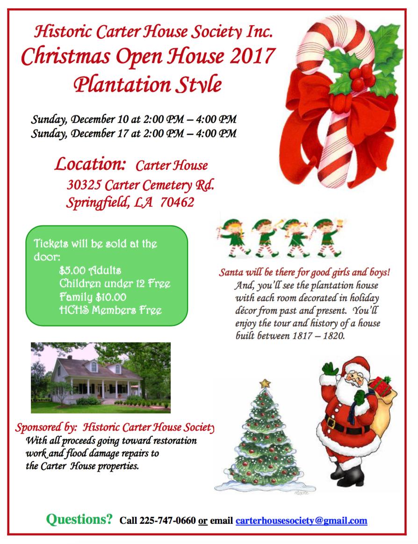 Christmas Open House Plantation Style 2017 | Historic Carter House ...